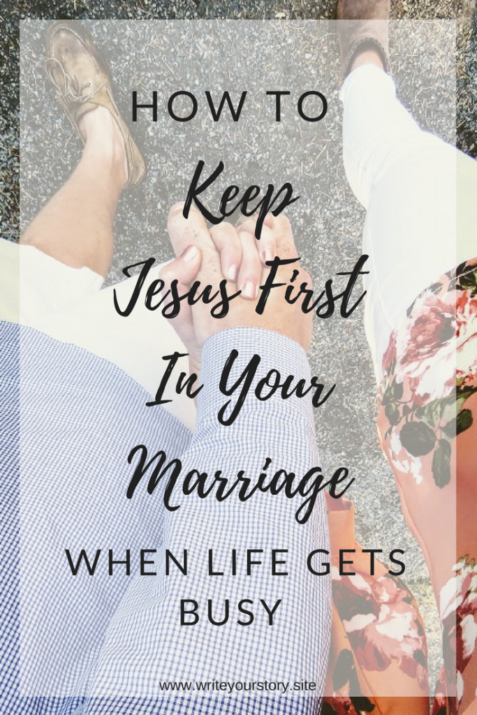 Jesus first in marriage