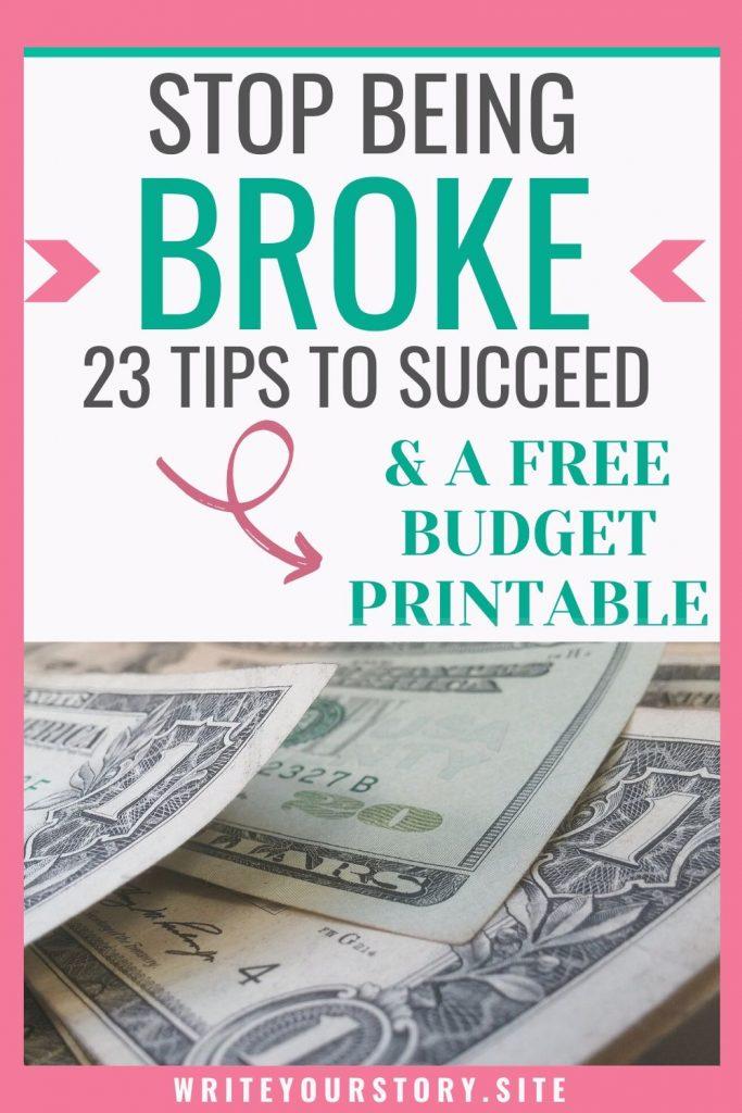 stop being broke