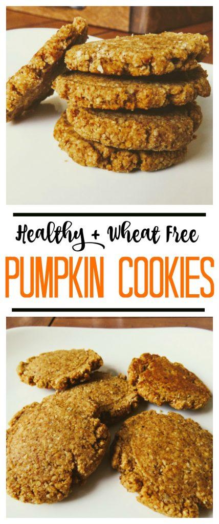 healthy wheat free pumpkin cookies