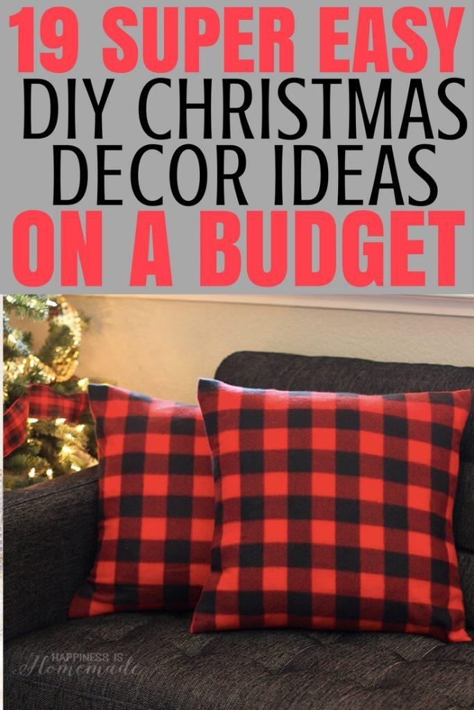 DIY Christmas Decor On A Budget