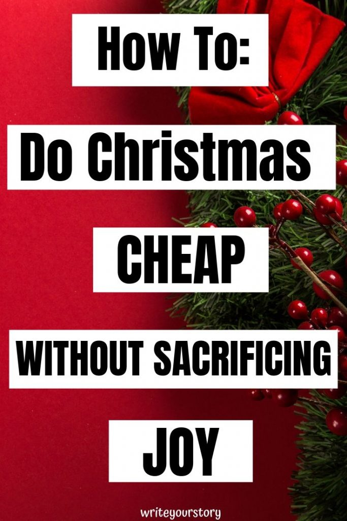 how to do christmas cheap / frugal christmas #christmascheap #frugalchristmas #savemoney