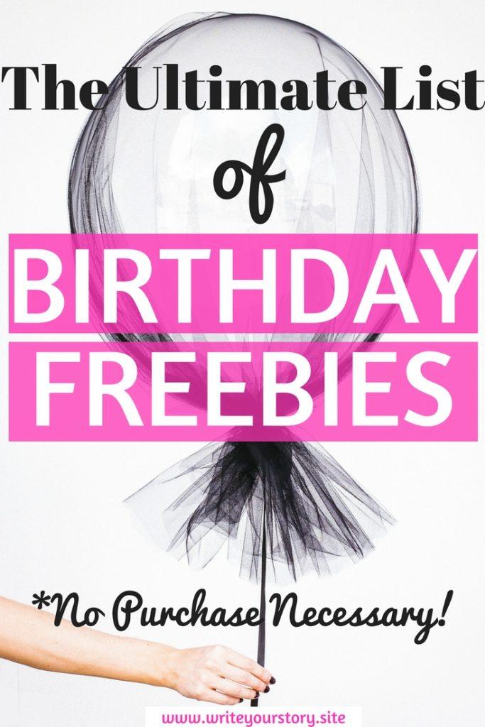 free birthday stuff / birthday freebies