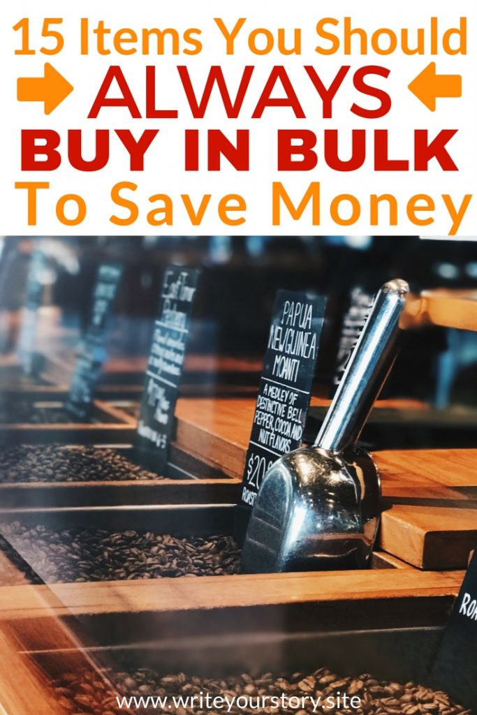 buy in bulk / saving money tips #groceriesonabudget #bulkitems #savemoney
