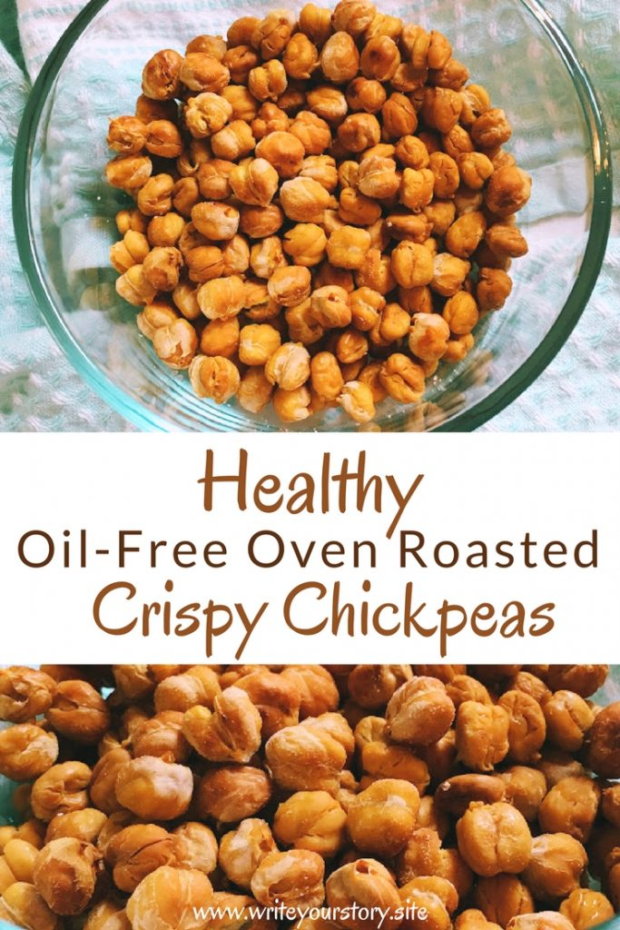 healthy oil free roasted chickpeas