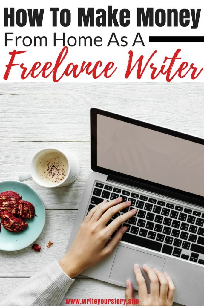 work from home as a freelance writer