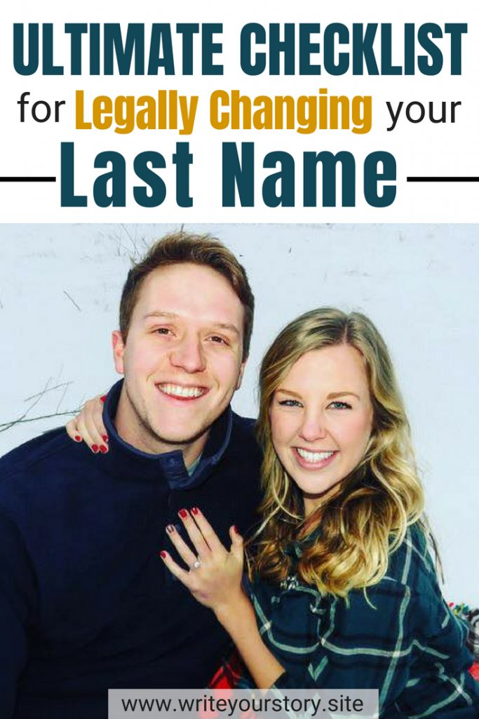 checklist changing last name / change last name after marriage