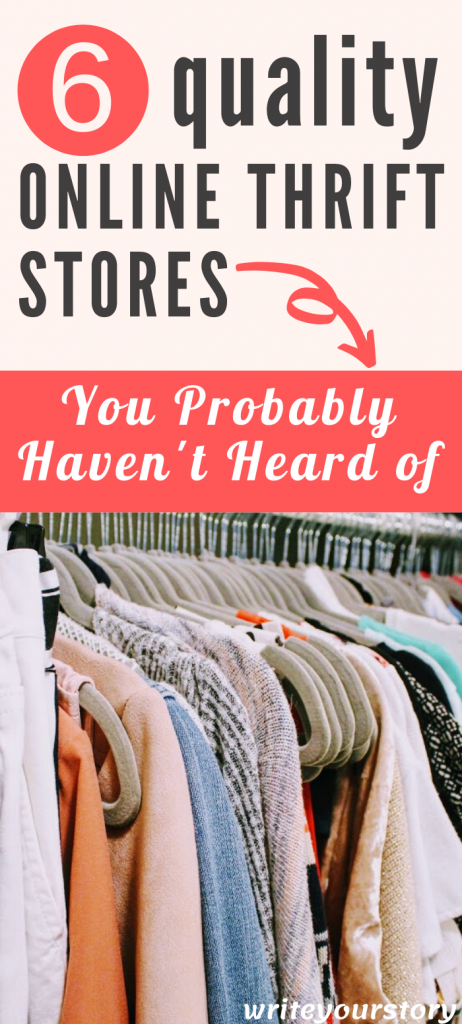online thrift stores to save money shopping / thrift store shopping / thrifting