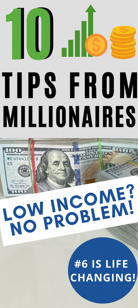 tips from a millionaire