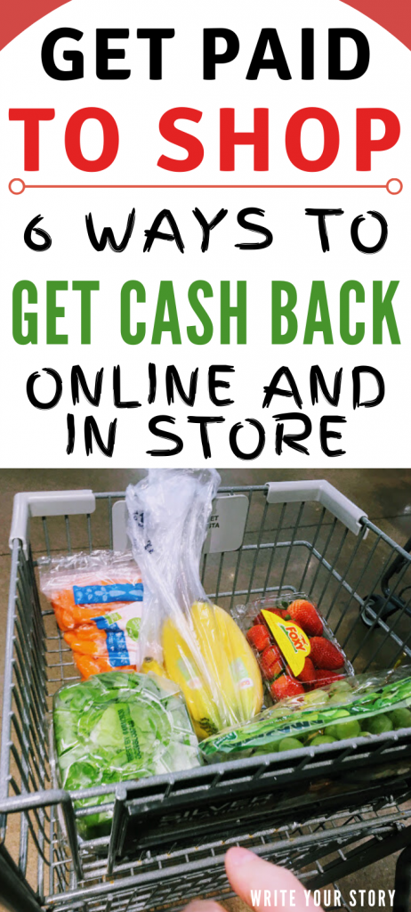 earn extra money shopping by earning cash back