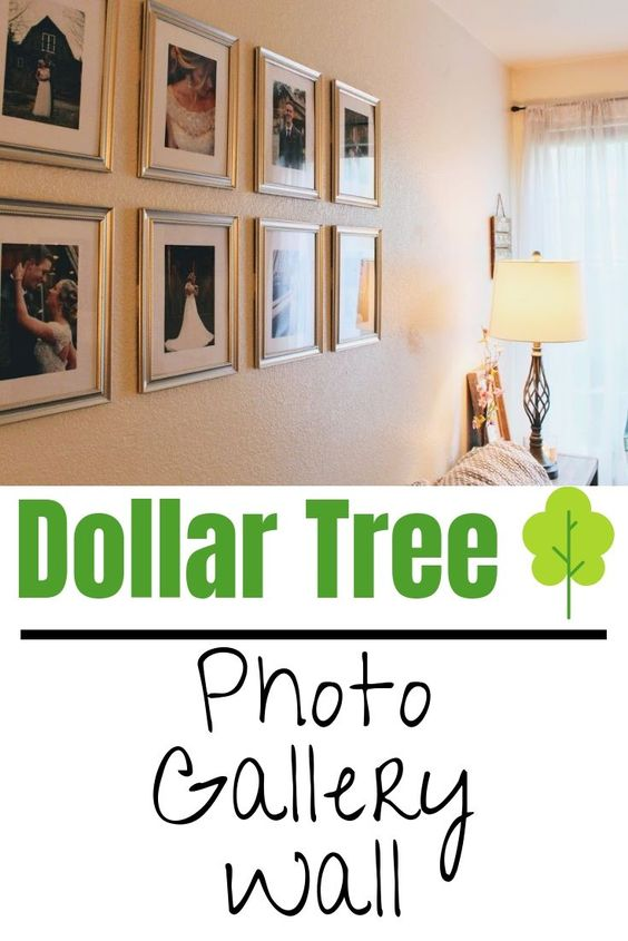 Dollar Tree photo gallery wall under $10