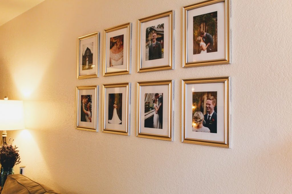 DIY photo gallery wall for under $10