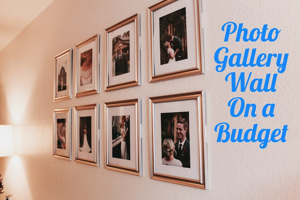 photo gallery wall for under $10!