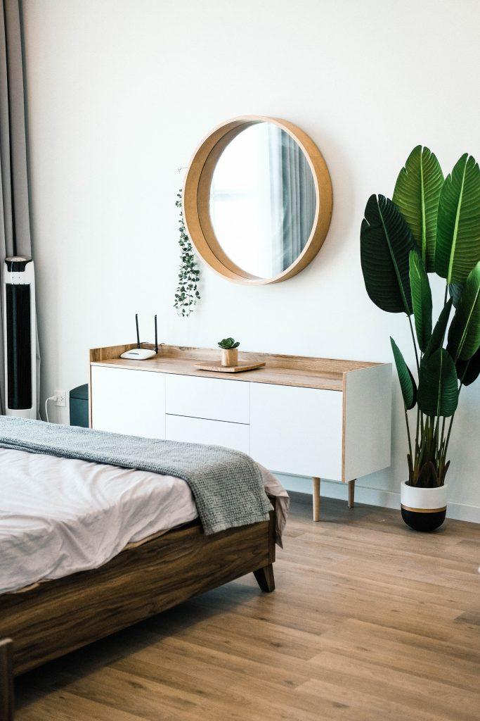 clean organized bedroom